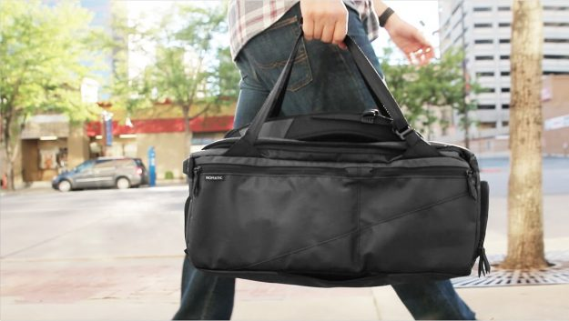 The Nomatic Travel Bag has 20 different useful functions and can be carried in different ways. Image: Nomatic
