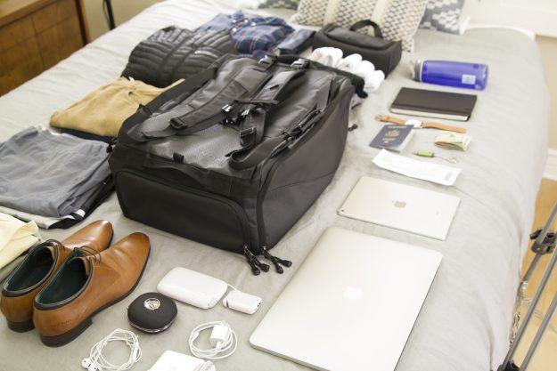 The Nomatic Travel Bag has 20 different useful functions. Image: Nomatic