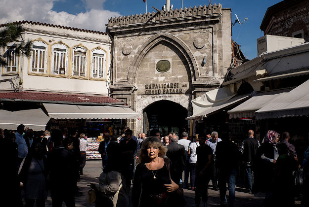 Entrance to Istanbul's Grand Bazaar.
