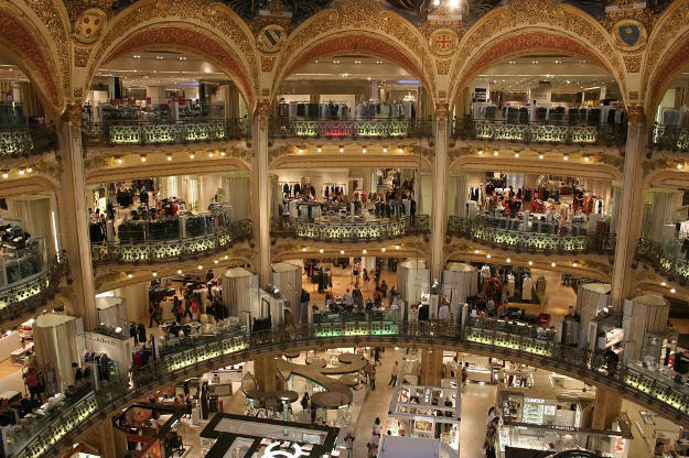 Galeries Lafayette is on Boulevard Haussman in the tourist zone.