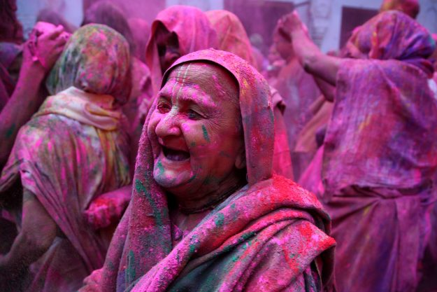 History was made when 1000 widows ushered in Diwali inside the centuries-old Gopinath Temple in Vrindavan. Image: Anil Kumar/Pacific Press/LightRocket via Getty Images