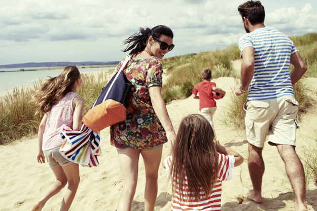 Family day out at the beach.