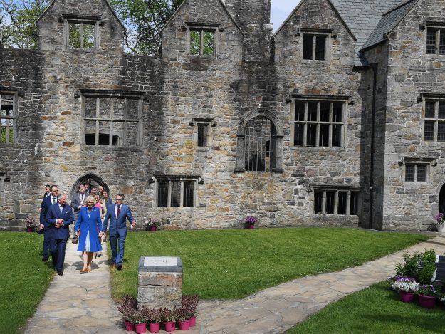 Prince Charles, Prince of Wales and Camilla, Duchess of Cornwall visit Donegal Castle. Image: Charles McQuillan/Getty Images