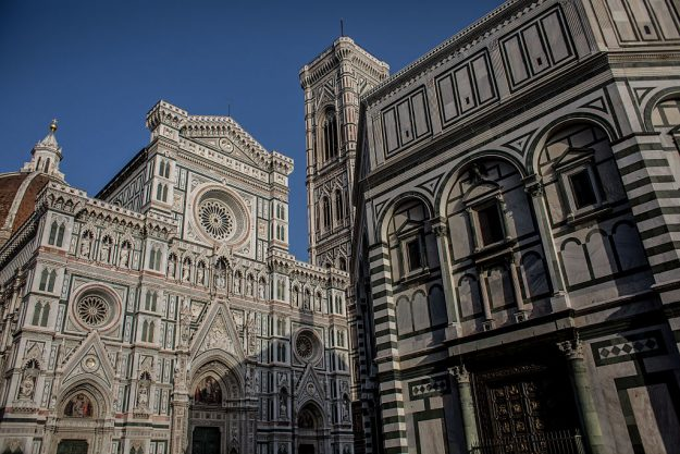 The Baptistery of St. John and the Santa Maria del Fiore Cathedral.