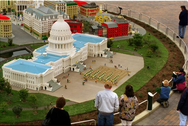 The US Capitol building at Legoland California. Image: Don Bartletti/Los Angeles Times via Getty Images