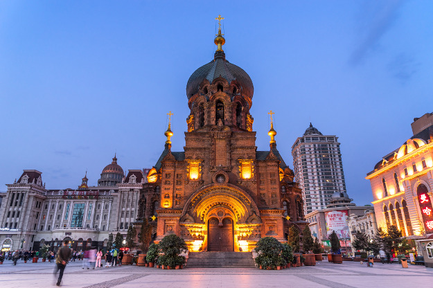 Saint Sophia Cathedral in Harbin. It was built in 1907. Located in the central district of Daoli, Harbin City, Heilongjiang Province, China.