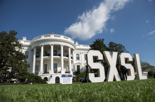 South by South Lawn was described as a festival of art, ideas and action.