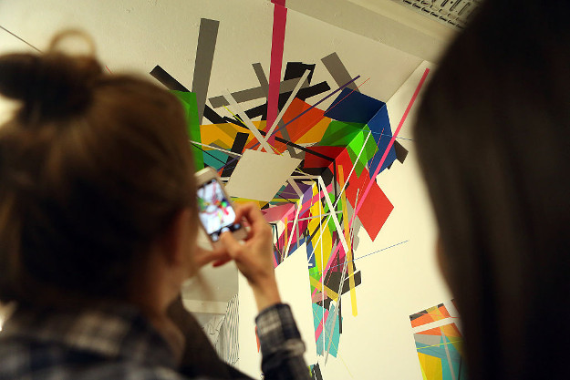 Tape Art Convention on October 8, 2016 in Berlin, Germany.