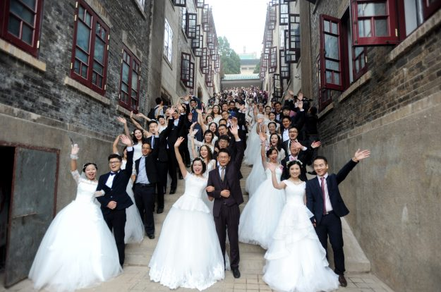 The event saw 123 couples taking part in the ceremony.