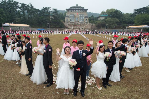 All of the couples that took part in the ceremony were graduates of the University.