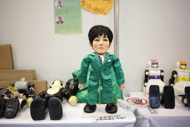 The Tori Robot, made to look like the Japanese actor Tori Matsuzaka developed by Robot Yuenchi.