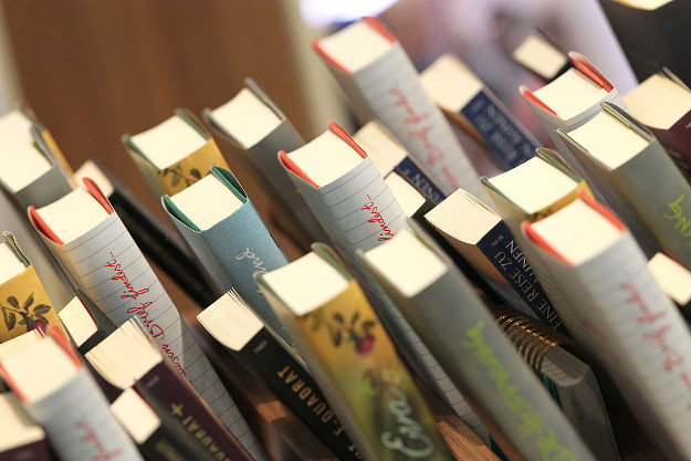 Books are pictured at the Frankfurt Book Fair in Frankfurt/Main, Germany, on October 19, 2016.