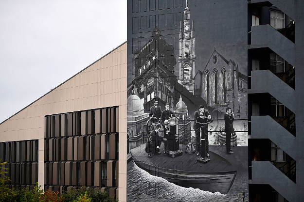 A general view of one of the Murals at Strathclyde University.