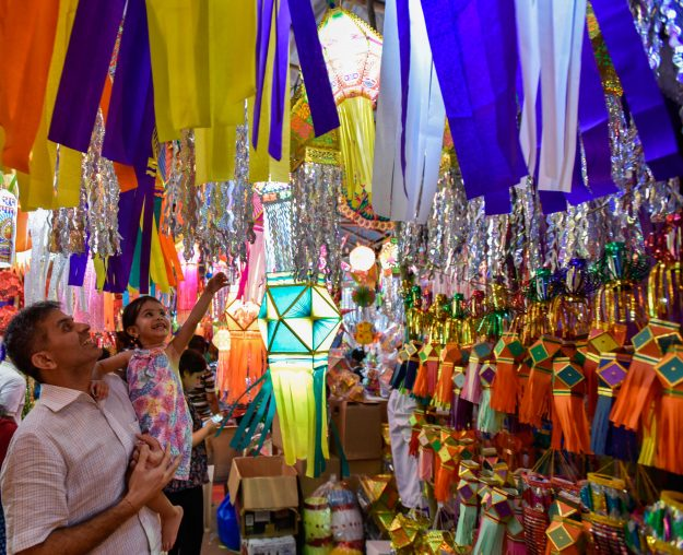 Lanterns on display for sale for Diwali, the festival of lights in Mumbai, India. Image: Kunal Patil/Hindustan Times via Getty Images