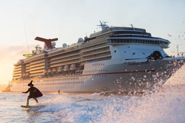 Events on-board the cruise included trick or treating, a special spooky menu and Halloween movies.