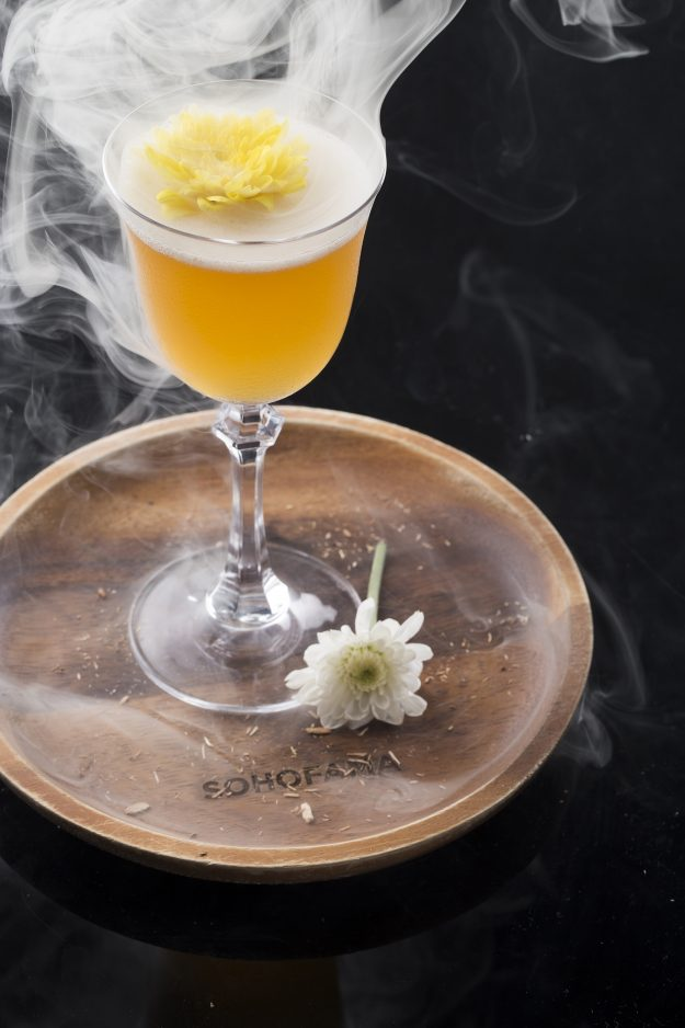Smoking Chamomile cocktail by Sohofama.