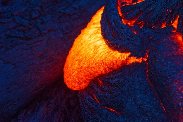 Active lava captured close up.