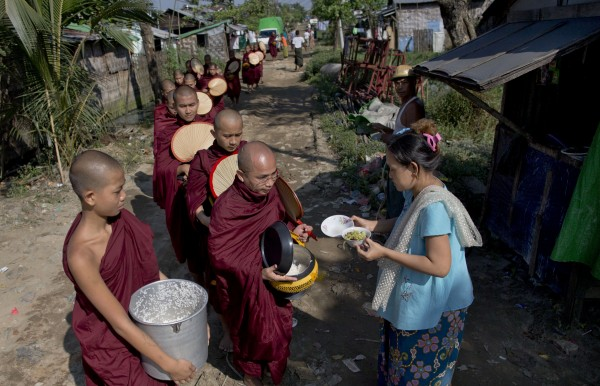 90% of these follow Theravada Buddhism, where a major practice is donating to support those living a monastic lifestyle.