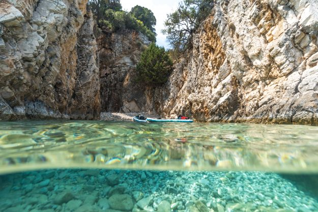 The crystal clear waters of the Ionian Islands.