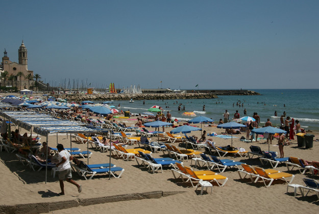 Sitges, near Barcelona, Spain - popular with gay travellers.