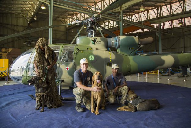 Paramount Anti-Poaching and K9 Academy with their highly-trained dogs.