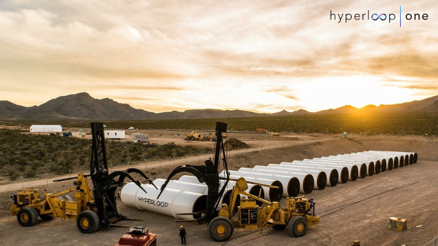 The Hyperloop One testing centre in Nevada.