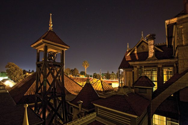 The Bell Tower of the WInchester Mystery House.