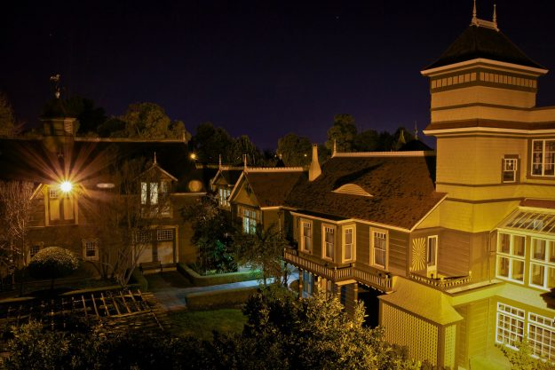 The Central Couryard of the Winchester Mystery House.