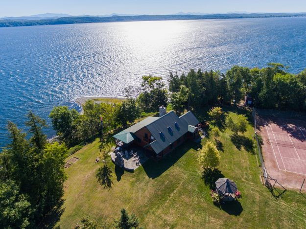 Cedar Island in Vermont is up for auction. Image: Concierge Auctions