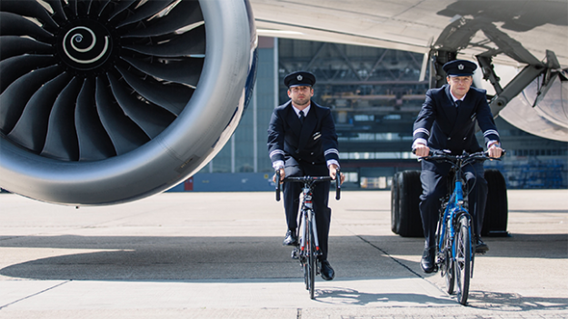 The two pilots got on their bike for Flying Start.