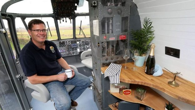 The family have spent £40,000 turning it into asuitable accommodation at their 'glampsite'