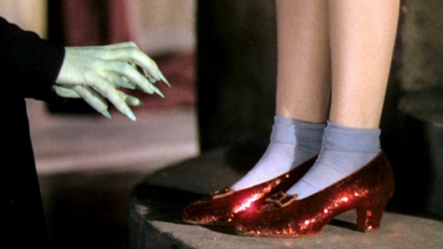 The Smithsonian has launched a Kickstarter campaign to repair the ruby slippers worn by Dorothy in The Wizard of Oz. Image: MGM