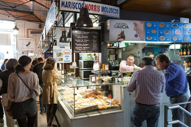 Tapas bar in the covered market.