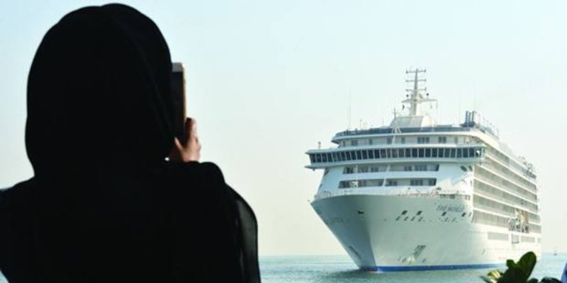 'The World' arrives in Doha.