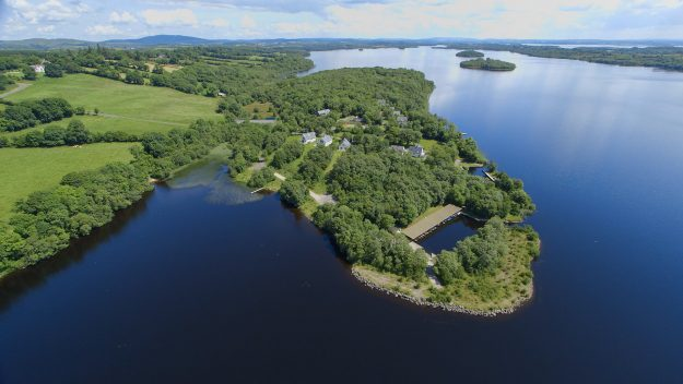 The domes are part of the wider estate of Finn Lough located on Lough Earne in Fermanagh.