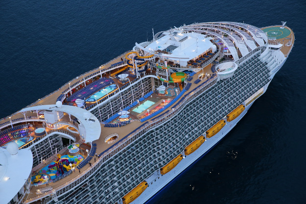 Aerial image of the Harmony of the Seas.