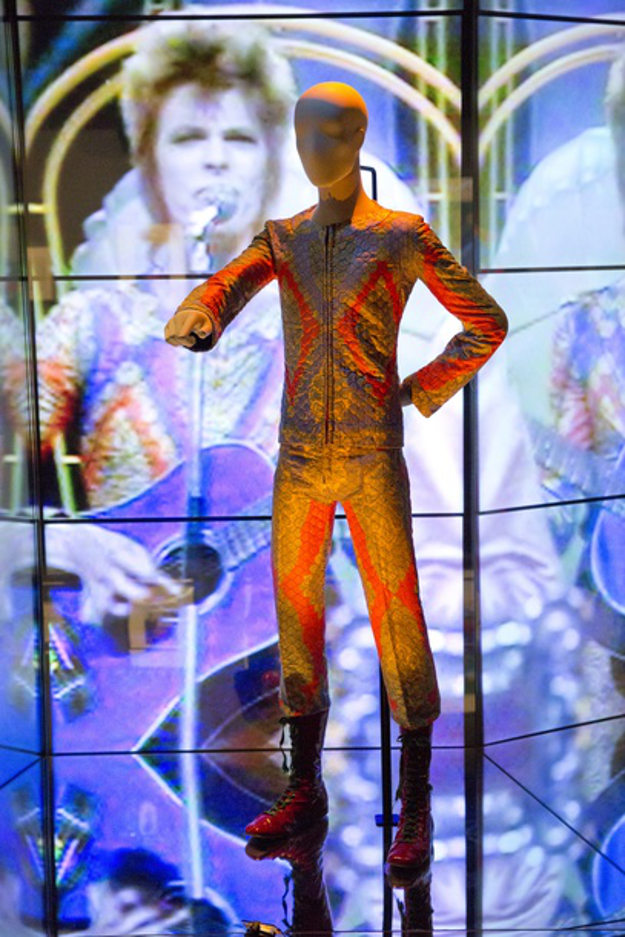 Installation image of David Bowie Is at the V&A.