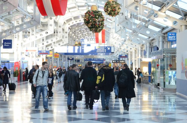 Chicago O'Hare topped the list as the busiest airport for Thanksgiving travel.