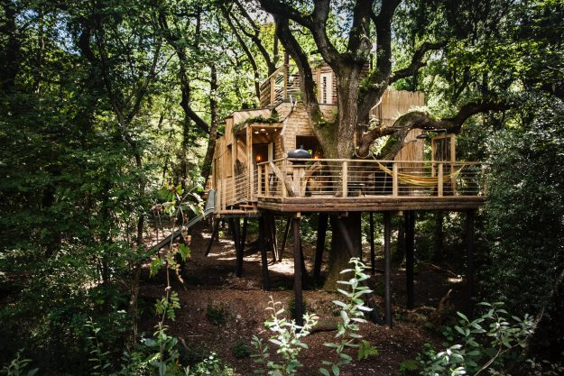 The Woodland's Treehouse offers a private retreat from the world.