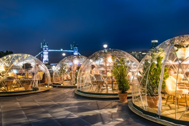 Drink Inside Of An Igloo On A New York City Rooftop