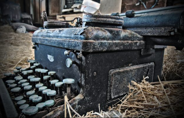An old typewriter in Ballymackeehola National School in County Mayo.