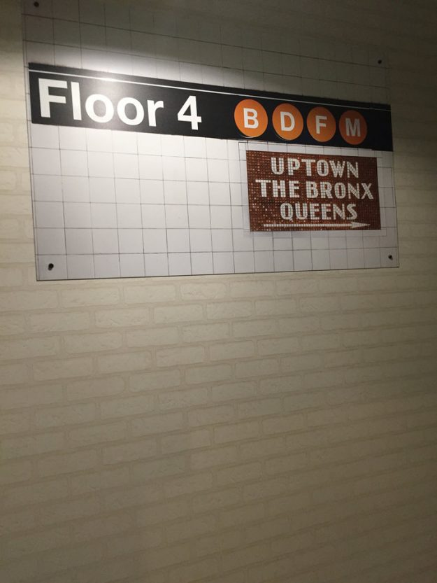 Subway tiles feature heavily throughout the building.
