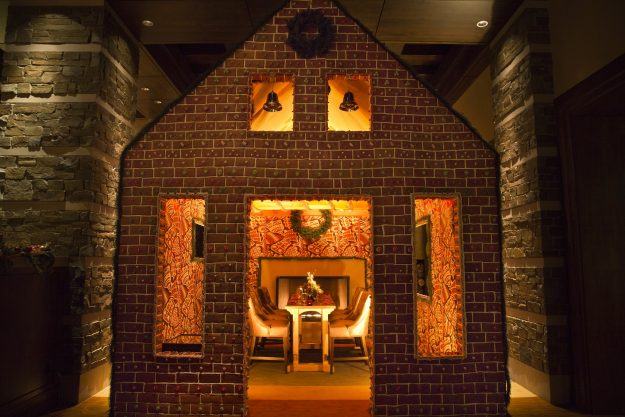The life sized ginger bread house will be available for renting throughout December.