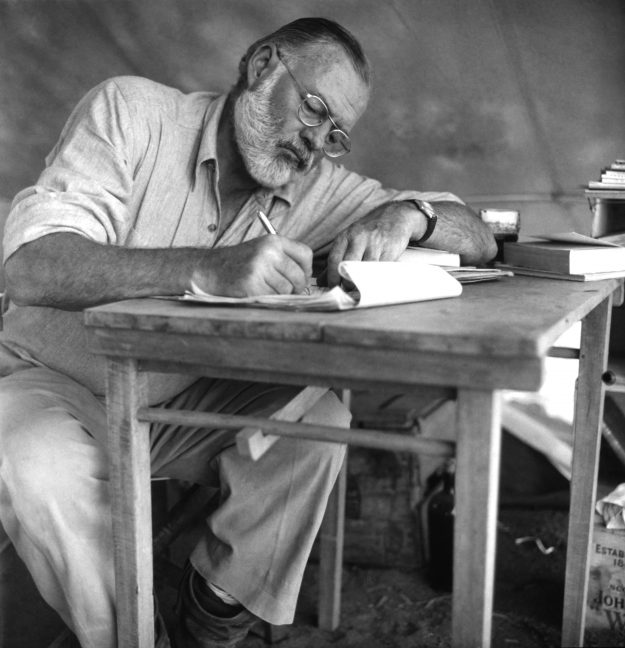 American writer Ernest Hemingway used to spend time on the veranda of The Snapdragon Inn in Vermont, when it was the former residence of Maxwell Perkins. Image: Earl Theisen/Getty Images