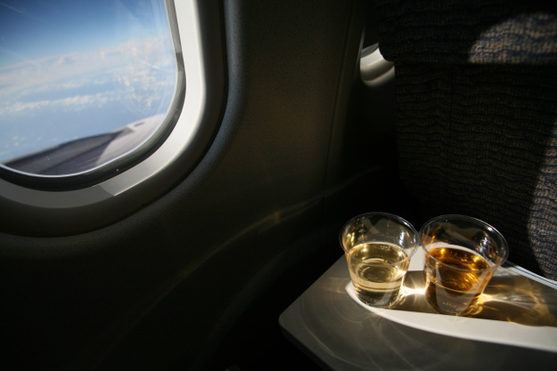 Wine and beer have a high mark-up on flights.