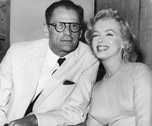 Marilyn Monroe met her husband Arthur Miller at teh Hollywood Roosevelt. Image: Fox Photos/Hulton Archive/Getty Images