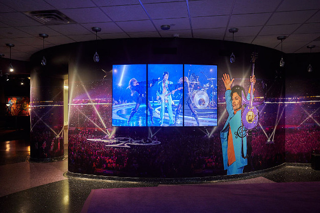 General atmosphere of Prince's Paisley Park Museum during a media preview tour on November 2, 2016 in Chanhassen, Minnesota.