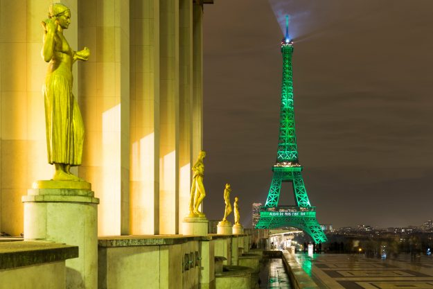 eiffel tower green climate change
