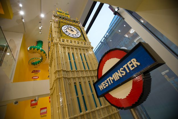 The world's largest LEGO store has opened in London. Image: Daniel Leal-Olivas/AFP/Getty Images