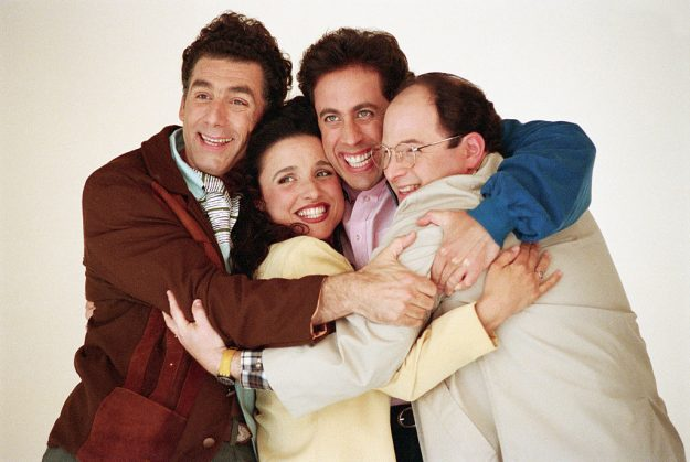Elaine Benes and the cast of TV series Seinfeld. Image: David Turnley/Corbis/VCG via Getty Images